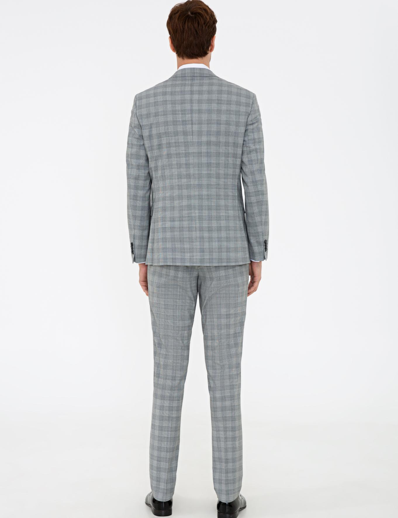 Gri Slim Fit Takım Elbise - 50238008017