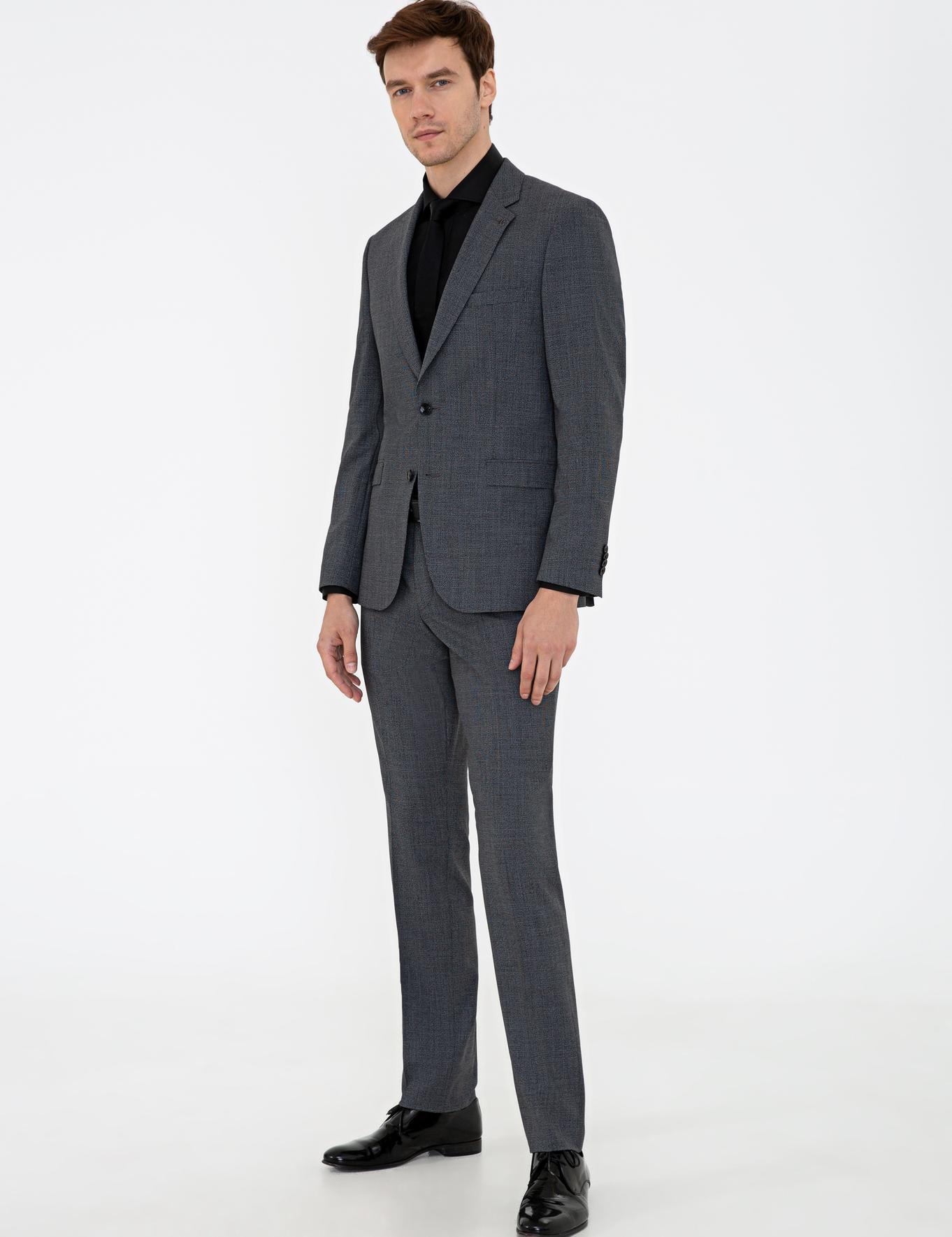 Siyah Slim Fit Takım Elbise - 50236635011