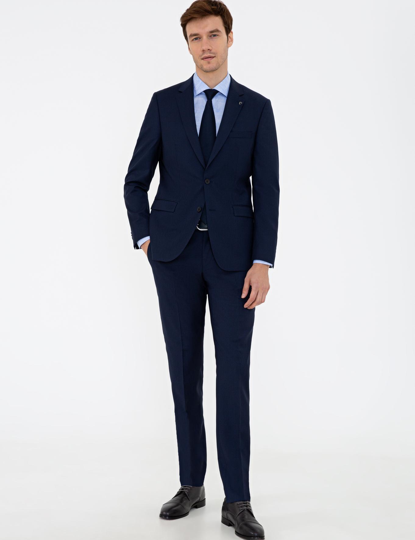 Lacivert Slim Fit Takım Elbise - 50233434011
