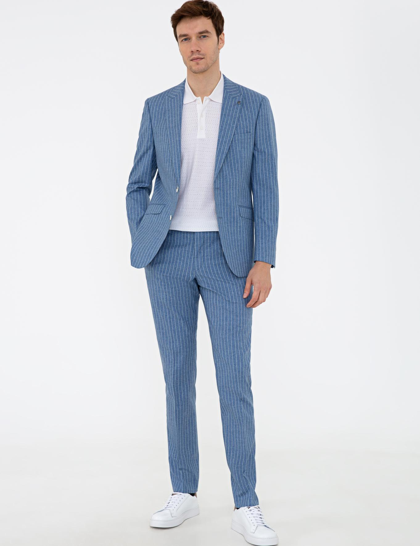 Mavi Slim Fit Takım Elbise - 50237306014