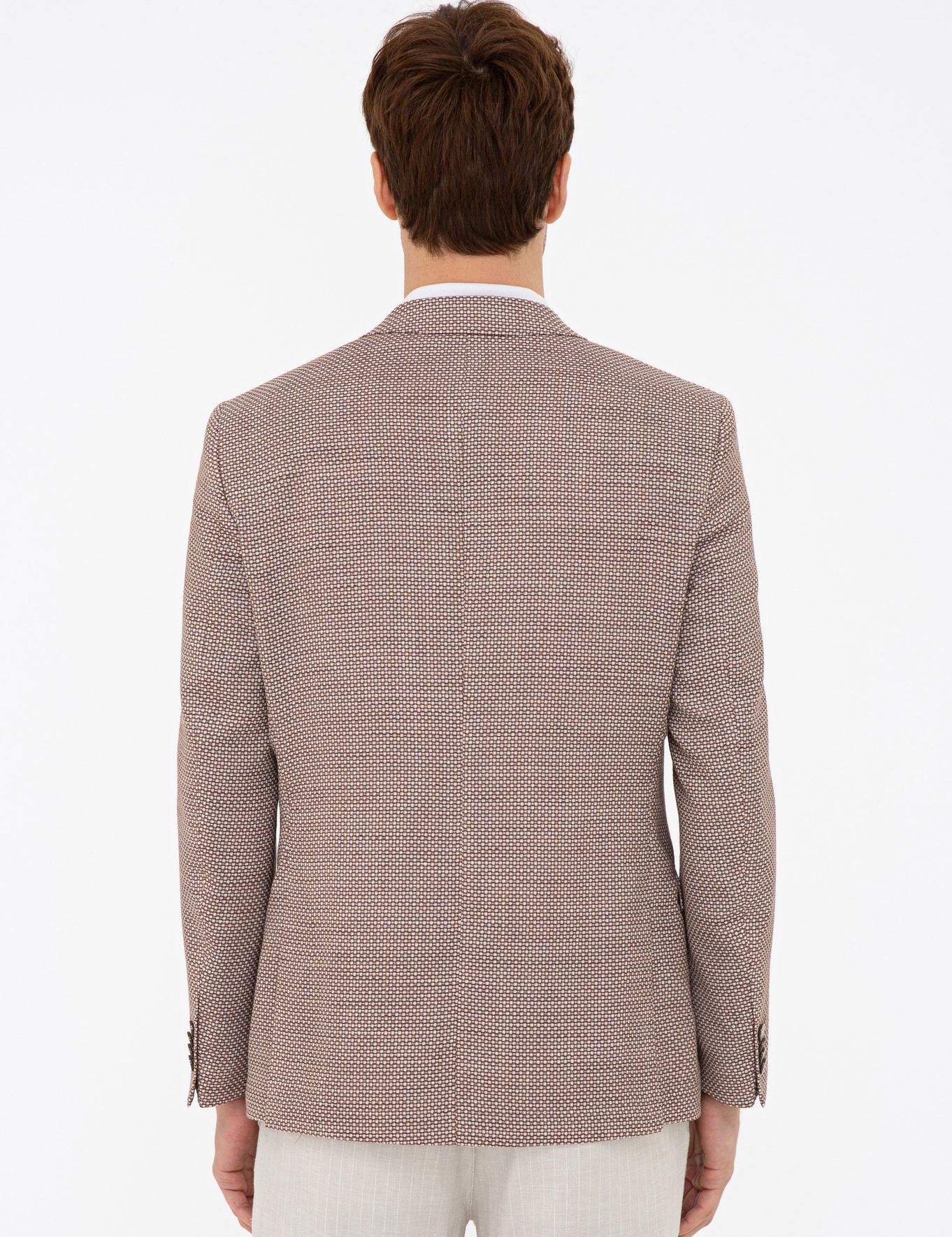 Kahverengi Slim Fit Ceket - 50233097047