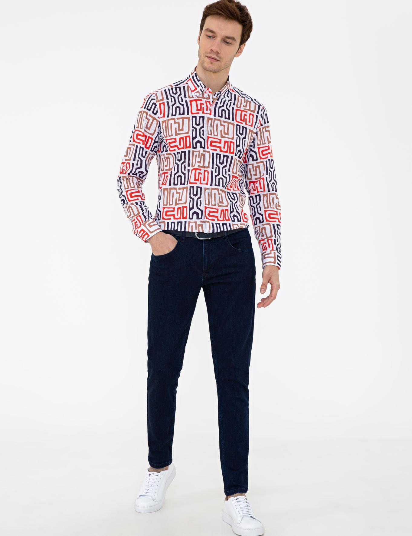 Beyaz Slim Fit Gömlek - 50233780009