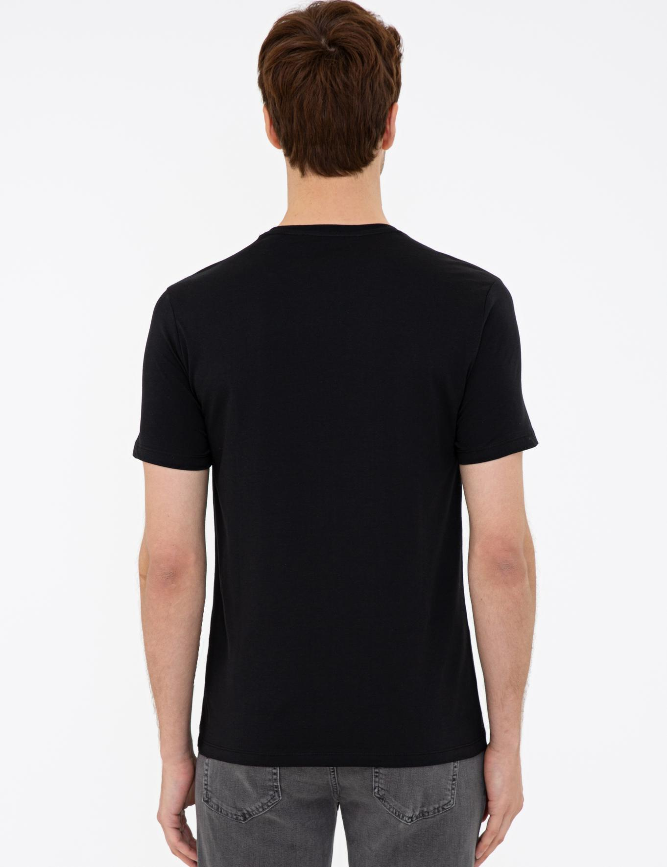 Bisiklet Yaka Basic T-Shirt - 50239832036