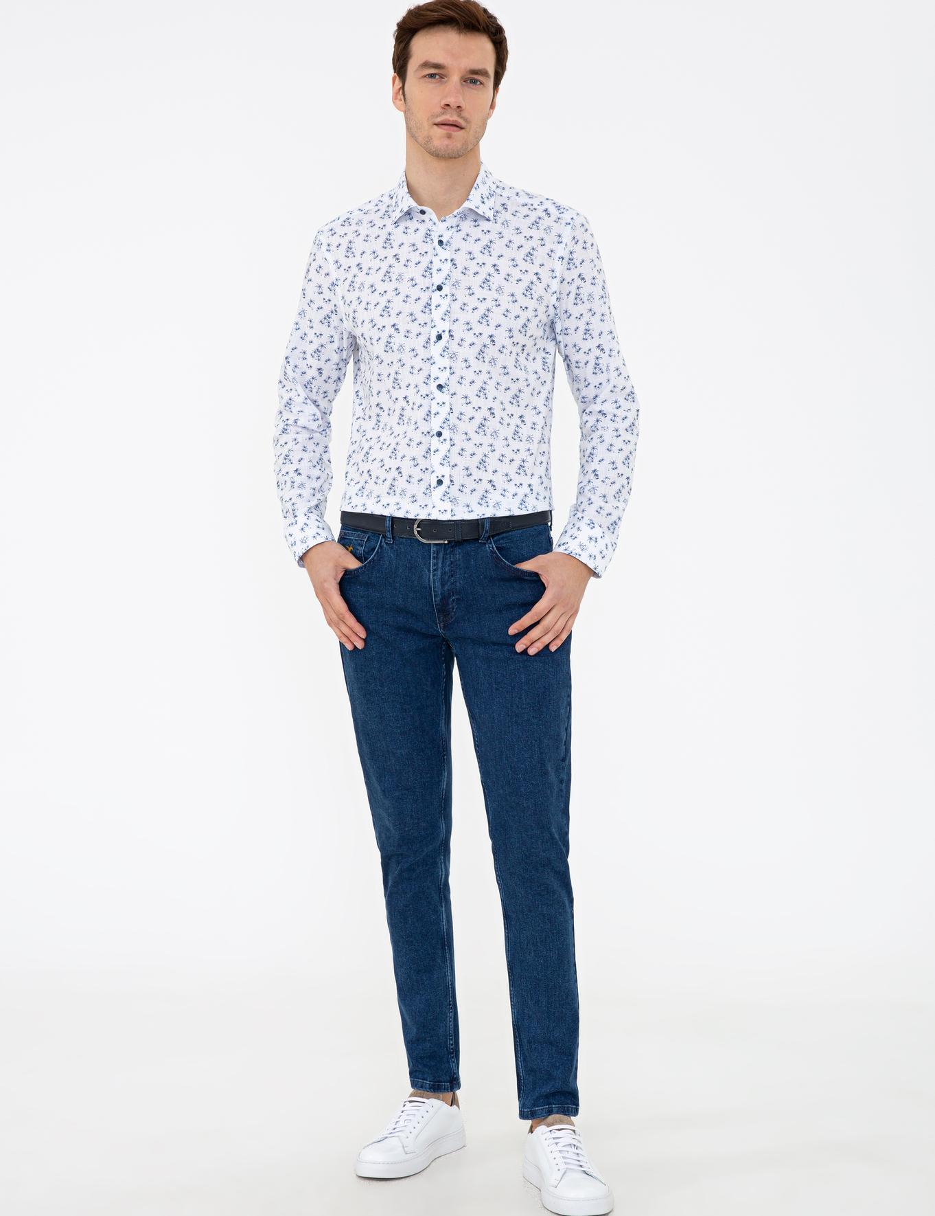Lacivert Slim Fit Gömlek - 50233195028