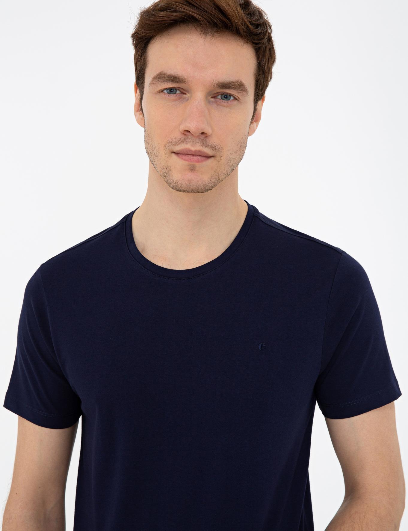Bisiklet Yaka Basic T-Shirt - 50239832021