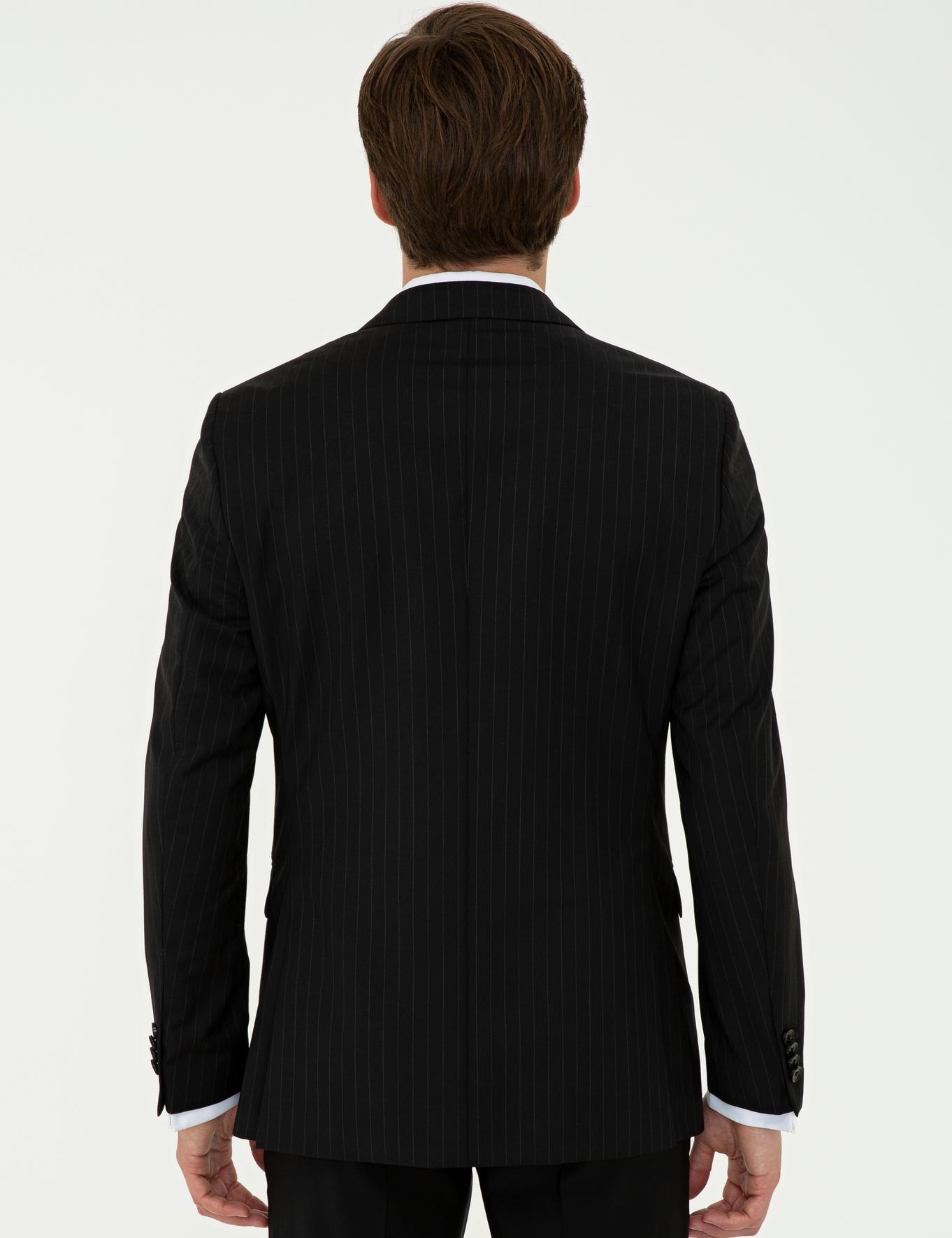 Siyah Slim Fit Ceket - 50238556047