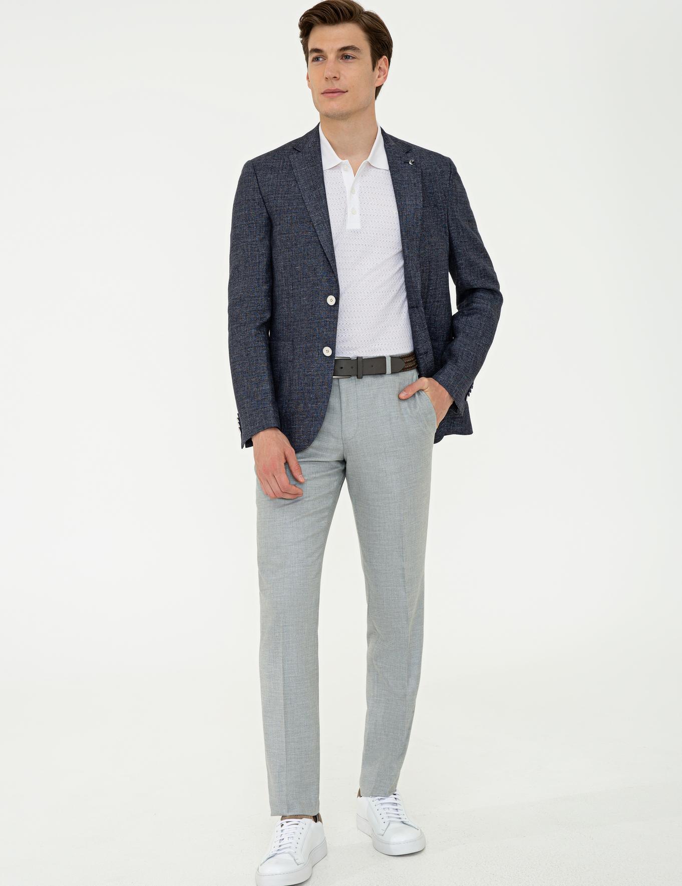 Lacivert Slim Fit Ceket - 50233107014