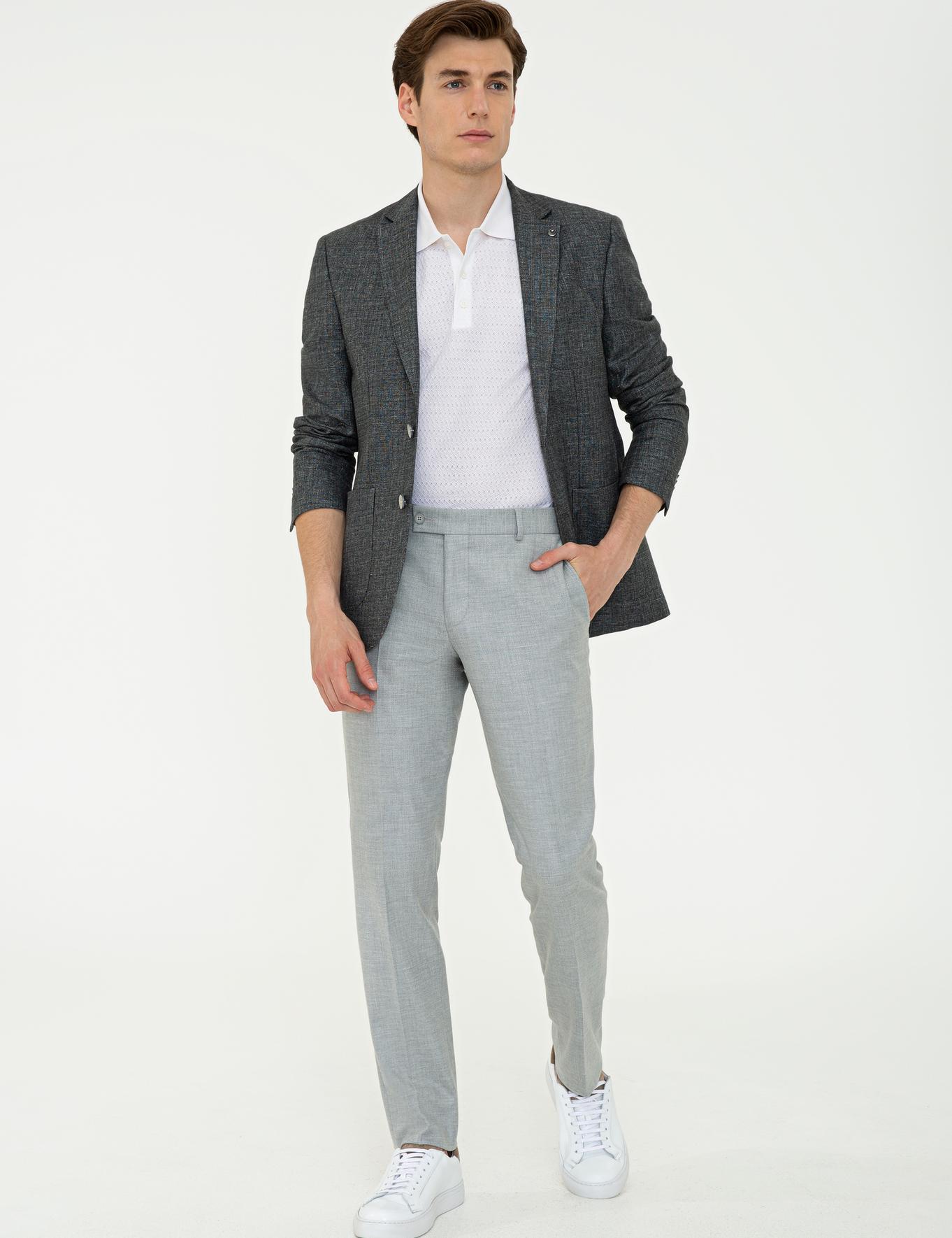 Siyah Slim Fit Ceket - 50233107116