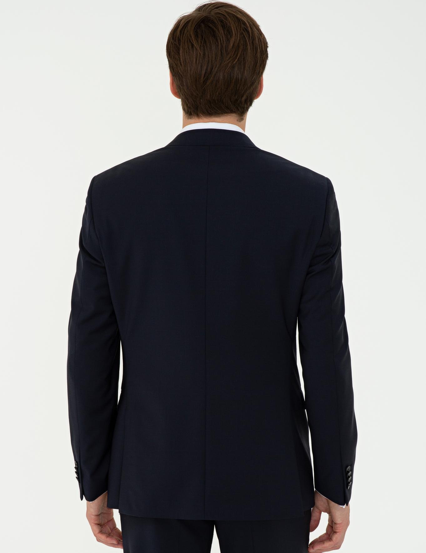 Lacivert Slim Fit Ceket - 50235695011