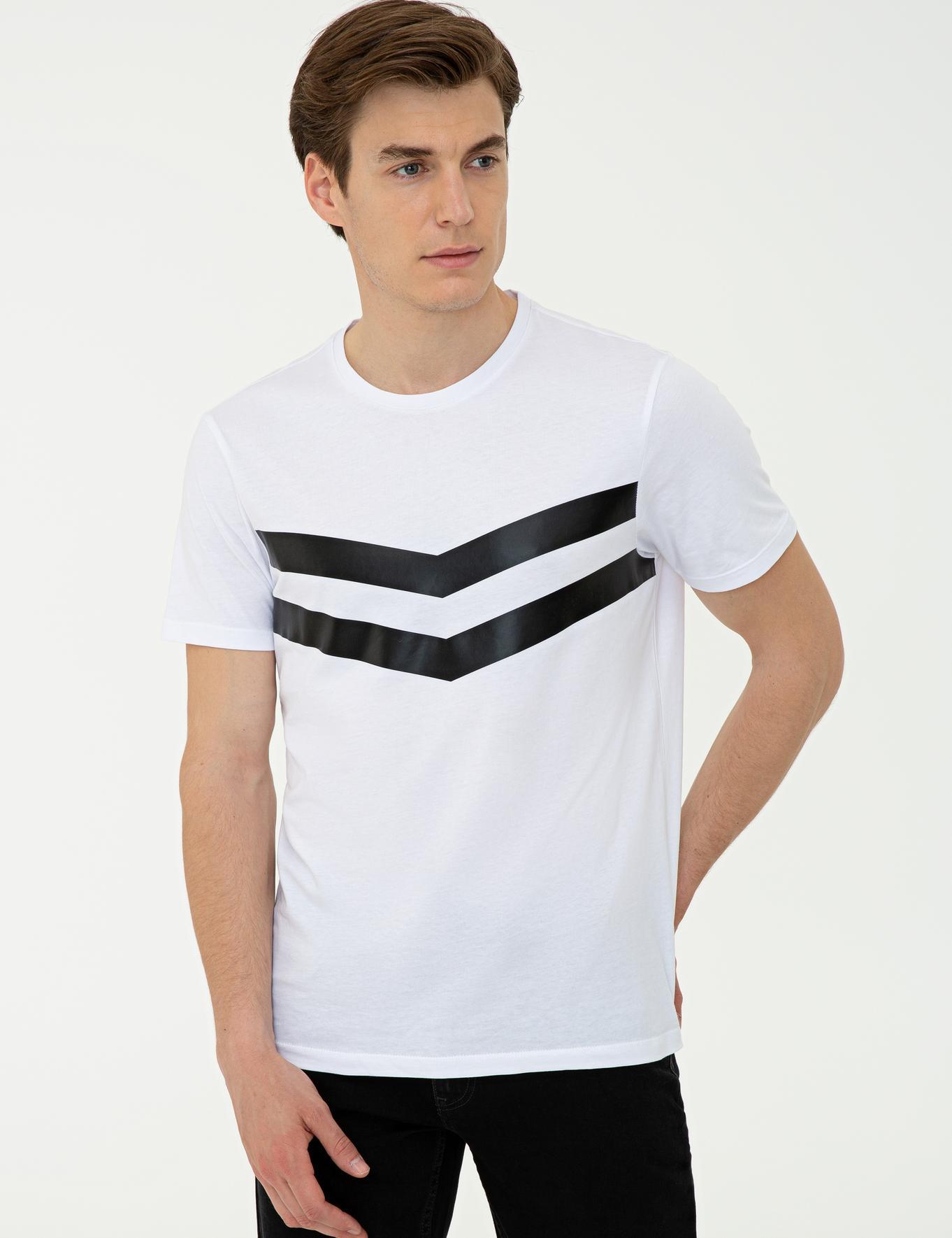 Bisiklet Yaka T-Shirt - 50240682001