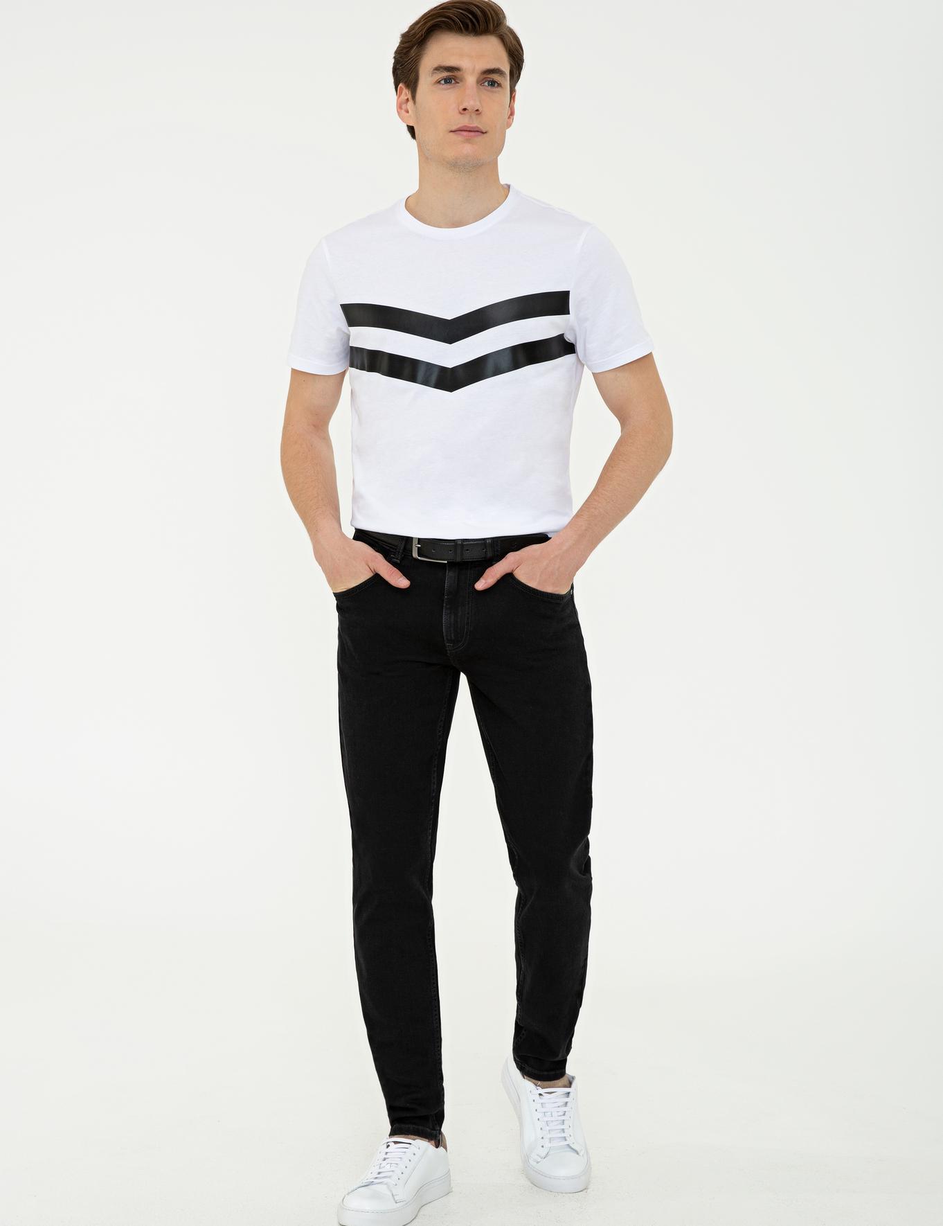 Koyu Gri Slim Fit Denim - 50235794065