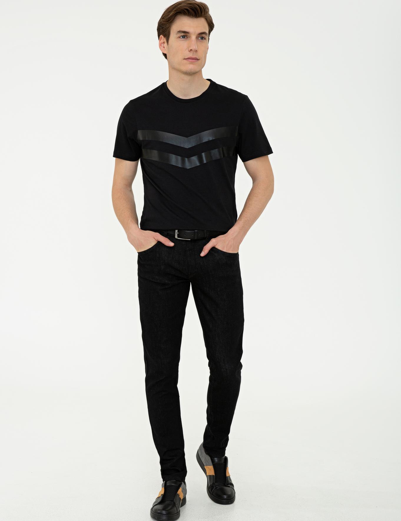 Bisiklet Yaka T-Shirt - 50240682014
