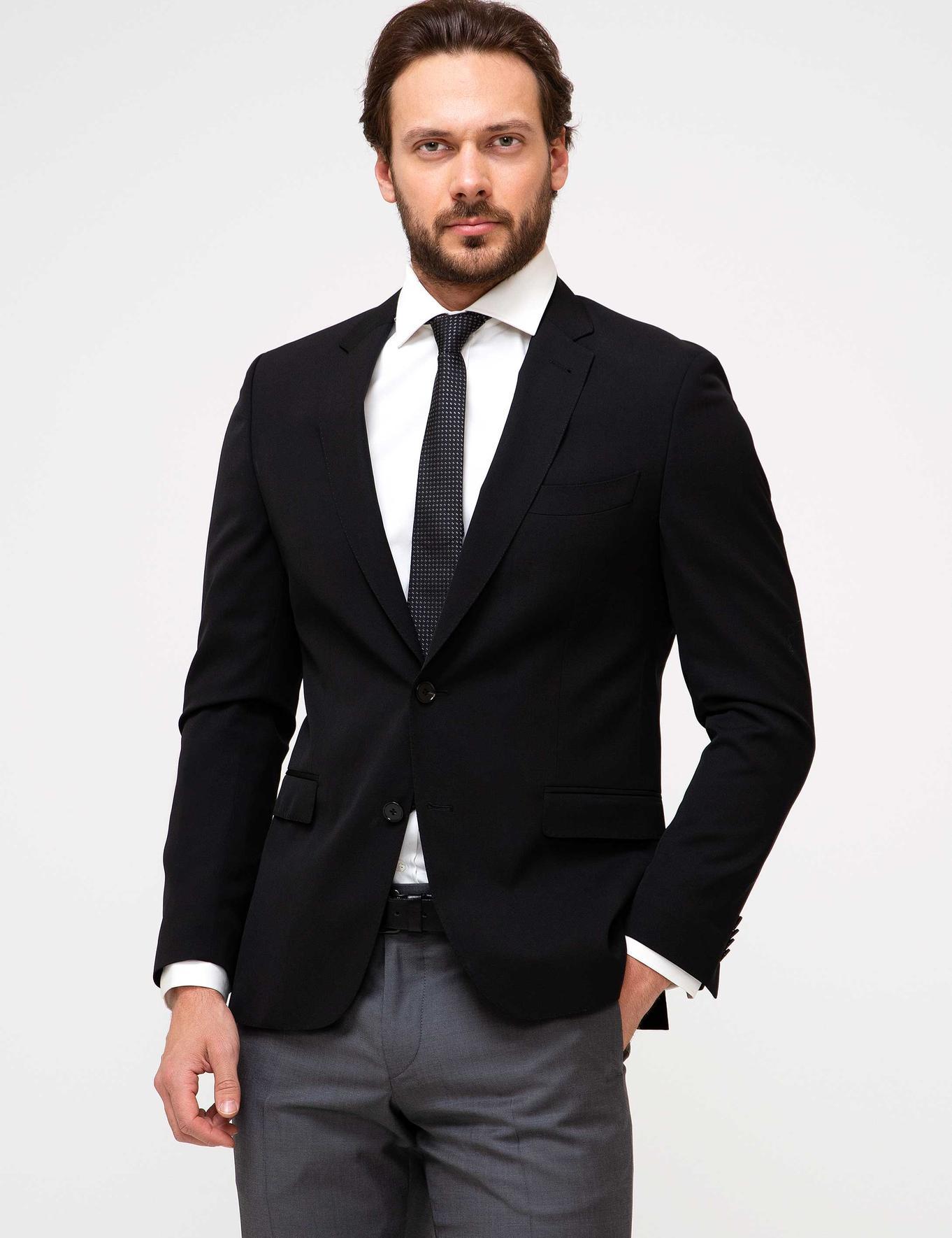 Siyah Slim Fit Ceket - 50197244008