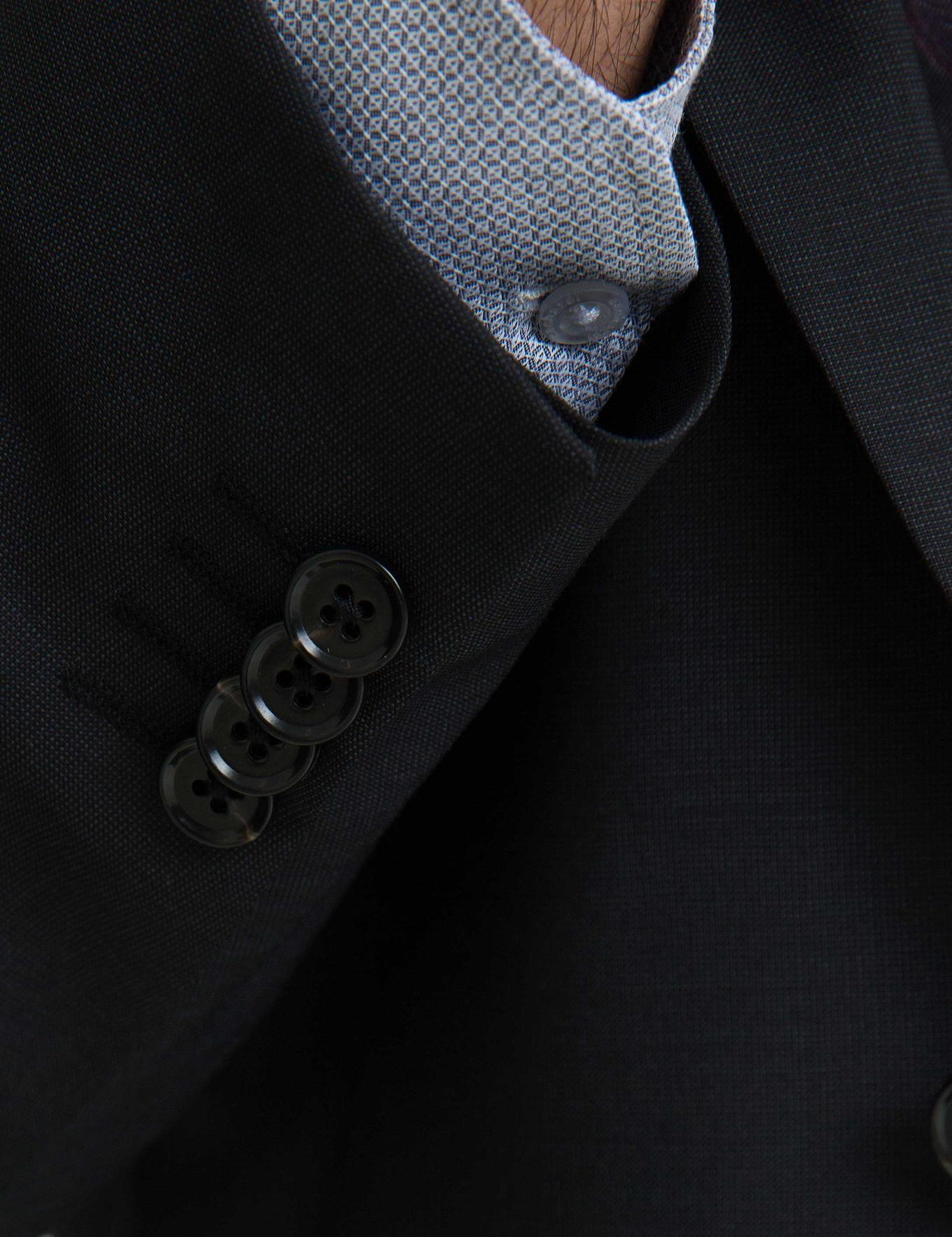 Siyah Slim Fit Takım Elbise - 50197278038