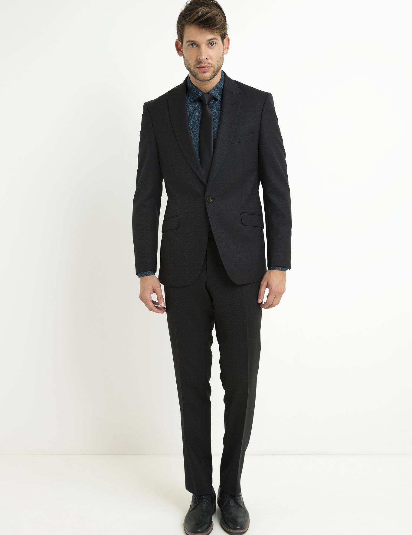 Siyah Slim Fit Takım Elbise - 50194216056