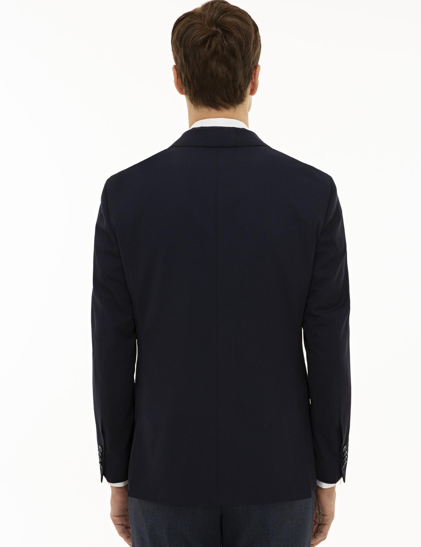 Lacivert Slim Fit Ceket - 50197244038