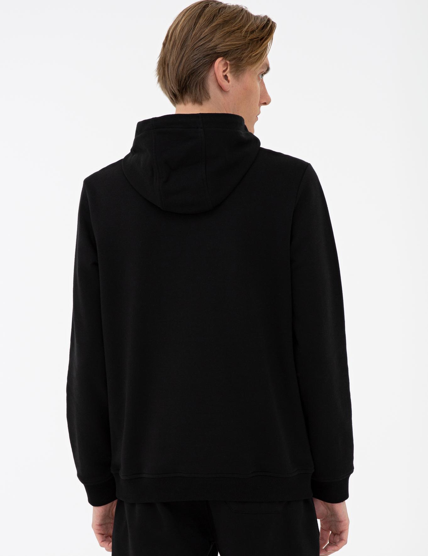 Siyah Standart Fit Sweatshirt - 50236094007