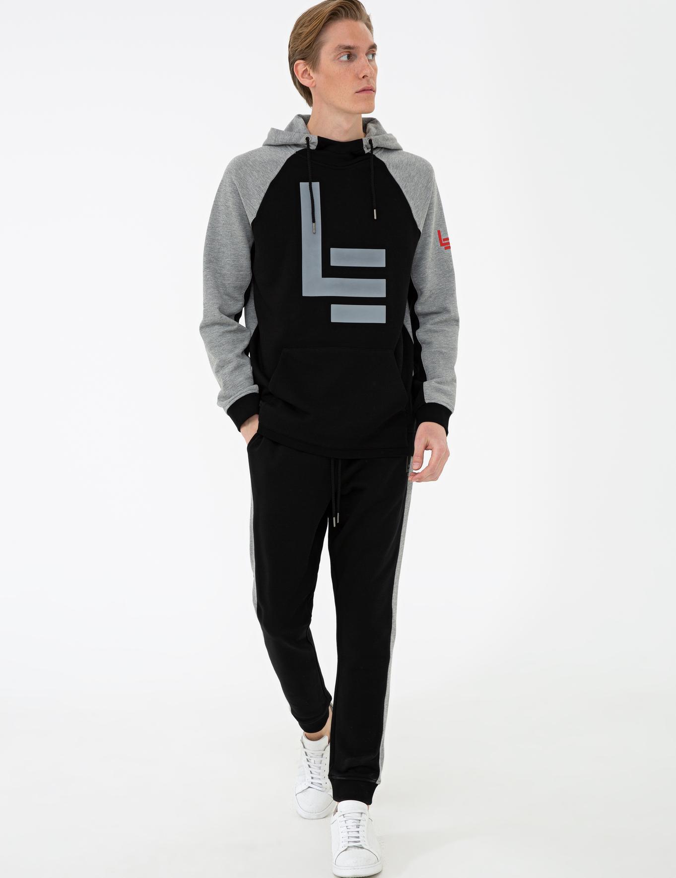 Siyah Slim Fit Sweatshirt - 50236145014