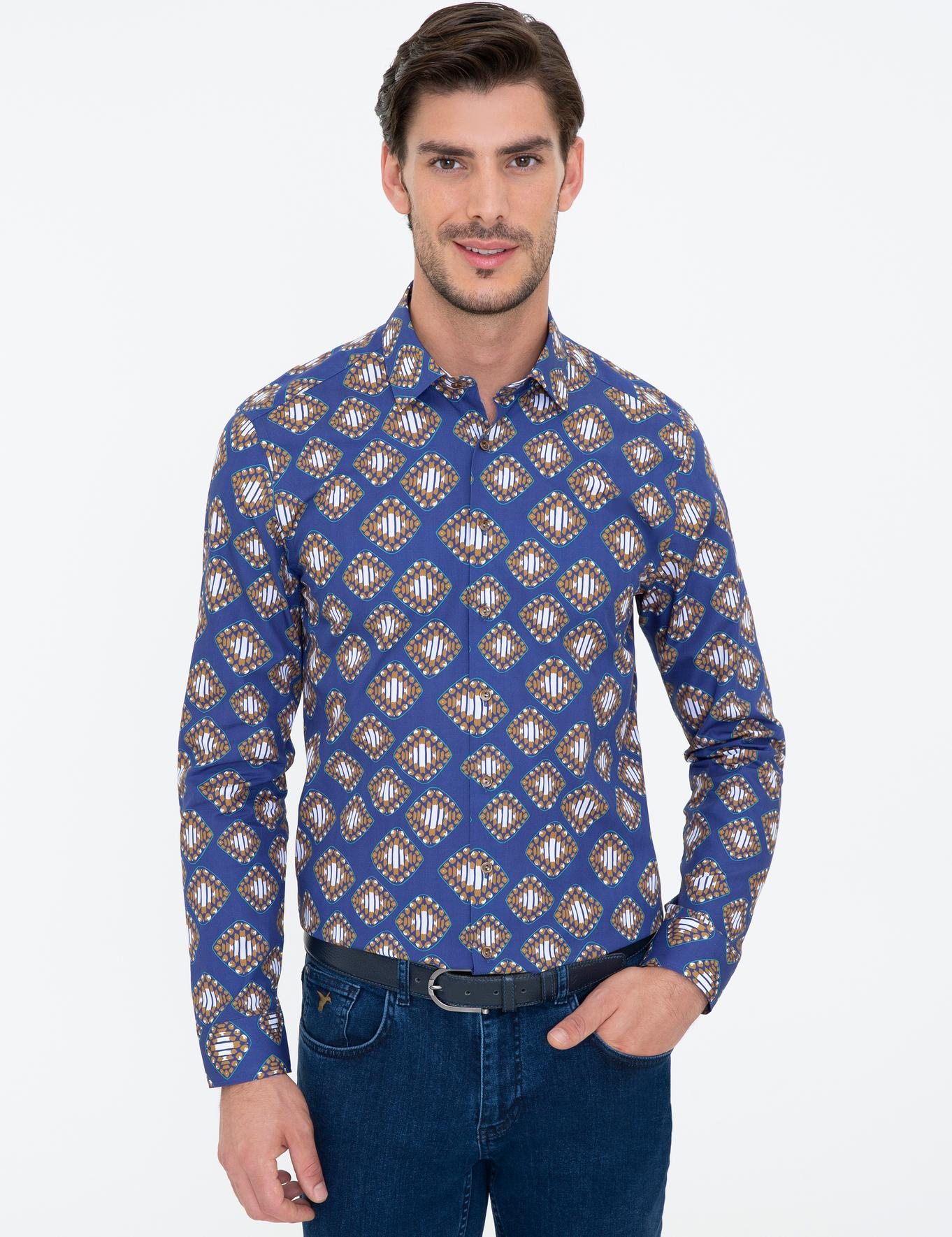 İndigo Slim Fit Gömlek - 50235078027